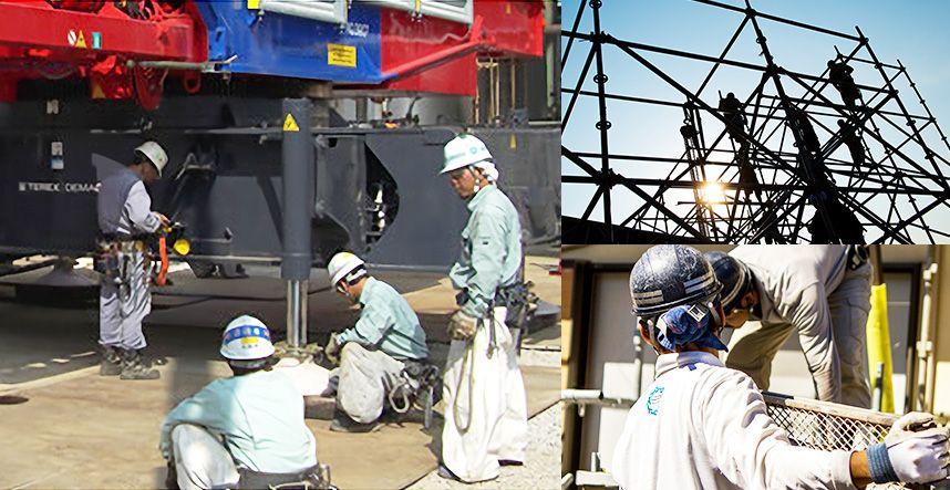 大阪府の鉄骨工事、仮設工事、建設機械、重量工事、再生工事は有限会社小堀組 仲間意識が強い鳶のプロフェッショナル集団